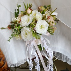 Classic Free-Form Artificial Silk Bridal Bouquets -