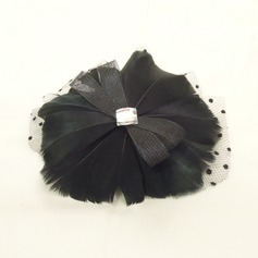 Magnifique Strass/Fil net/Feather Chapeaux de type fascinator