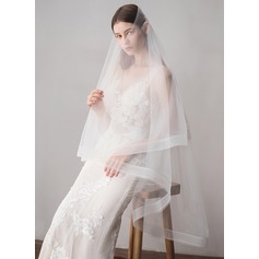 Two-tier Pencil Edge Waltz Bridal Veils (006165489)