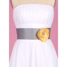Elegant Taffeta Sash With Beading/Flower (015003406)