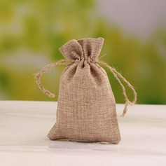Elegant Linen Favor Bags (Set of 12)