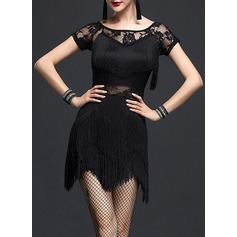 Women's Dancewear Spandex Lace Latin Dance Dresses