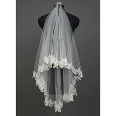 One-tier Waltz Bridal Veils With Lace Applique Edge (006034410)