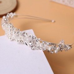 Ladies Beautiful Rhinestone/Alloy/Imitation Pearls Tiaras