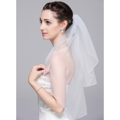 Two-tier Pencil Edge Elbow Bridal Veils (006078822)