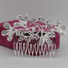Ladies Shining Alloy Combs & Barrettes With Rhinestone/Venetian Pearl (Sold in single piece)
