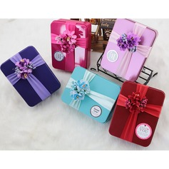 Treasure Chest Metal Favor Boxes With Ribbons  (050141418)