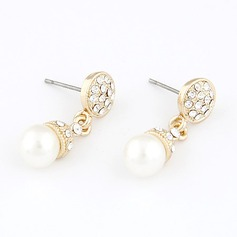 Nice Alloy/Pearl With Rhinestone Ladies' Earrings