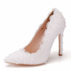 Women's Leatherette Spool Heel Pumps With Applique