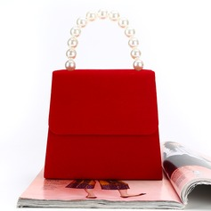 Personalized Style Velvet Clutches/Top Handle
