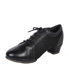 Unisex Real Leather Mesh Modern Practice Dance Shoes