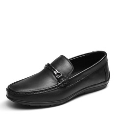 Men's Real Leather U-Tip Horsebit Loafer Casual Men's Loafers