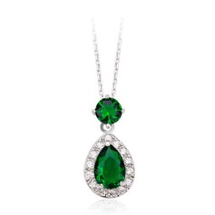 Nice Zircon/Platinum Plated Ladies' Necklaces