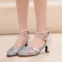 Women's Leatherette Mesh Heels Ballroom Dance Shoes