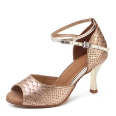 Real Leather Heels Latin Dance Shoes