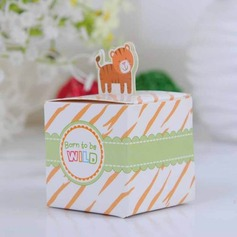Lovely Tiger Cubic Favor Boxes (Set of 12)