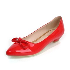 Women's Leatherette Flat Heel Flats Closed Toe With Bowknot shoes (086069953)