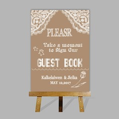 Personalized Guestbook Sign With Easel