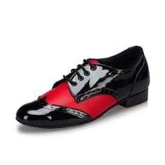 Men's Leatherette Heels Pumps Latin Ballroom Swing Practice Dance Shoes (053075250)