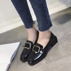 Women's Patent Leather Chunky Heel shoes
