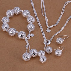 Chic Silver Plated Ladies' Jewelry Sets