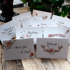 Floral Style Side Fold Thank You Cards (Set of 10)
