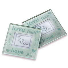 Good Wishes Pearlized Photo Coasters (Set of 2)