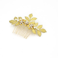 Ladies Classic Alloy/Imitation Pearls Combs & Barrettes With Rhinestone