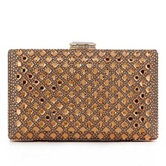 Elegant Crystal/ Rhinestone/Rhinestone/Glass bricks/Alloy Clutches (012092439)