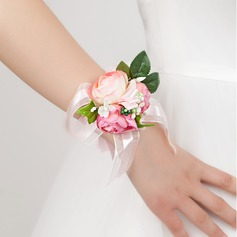 Delicate Free-Form Satin Wrist Corsage - (124032026)