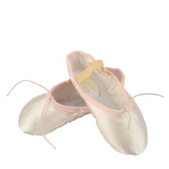 Kids' Satin Flats Ballet With Bowknot Dance Shoes