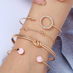 Stylish Alloy Rhinestones With Rhinestone Women's Fashion Bracelets (Set of 4)