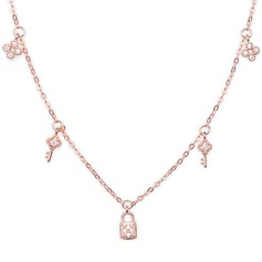 18k Rose Gold Plated Silver Key - Birthday Gifts Mother's Day Gifts