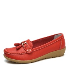 Women's Leatherette Low Heel Flats Closed Toe With Buckle shoes
