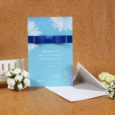 Classic Style Flat Card Invitation Cards With Ribbons  (114030751)
