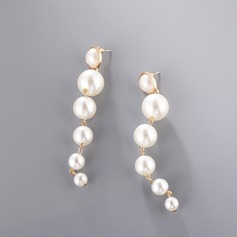 Beautiful Alloy/Imitation Pearls Ladies' Earrings