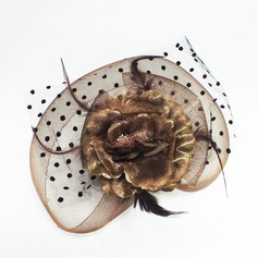 Dames Le plus chaud Feather/Tulle Chapeaux de type fascinator