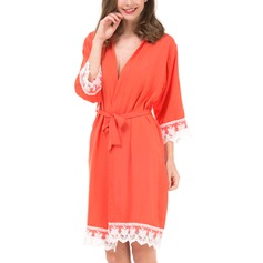 Cotton Bride Bridesmaid Mom Lace Robes (248197025)