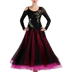 Women's Dancewear Spandex Organza Modern Dance Performance Dresses (115175489)