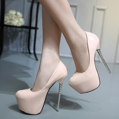 Women's PU Stiletto Heel Pumps Platform Closed Toe With Others shoes
