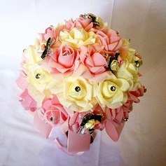 Girly Round PE Bridal Bouquets/Bridesmaid Bouquets (Sold in a single piece) -