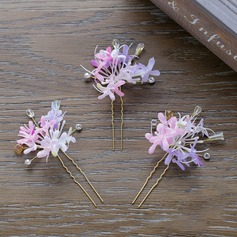 Ladies Charming Rhinestone/Resin Hairpins (Set of 3) (042120276)