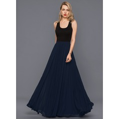 A-Line Chiffon Cocktail Dress With Pleated
