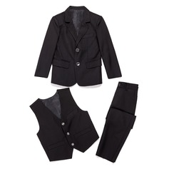 Boys Solid Ring Bearer Suits With Jacket Vest Pants (287199776)