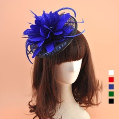 Ladies' Vintage Organza With Feather Fascinators (196124659)