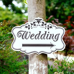 Attraktiv Enkel/Klassisk stil Tre Wedding Sign