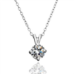 Classic Alloy/Zircon Ladies' Necklaces