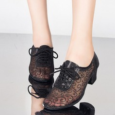 Women's Lace Pumps Practice With Lace-up Dance Shoes