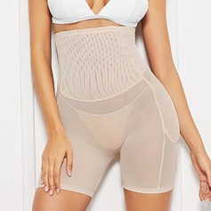Women Sexy Polyester/Chinlon Breathability High Waist Shapewear (125208870)