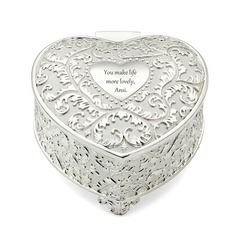 Personalized Heart-shaped Zinc Alloy Jewelry Holders